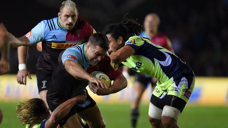 Easter (centre) played 281 times for Harlequins