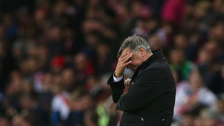 Sam Allardyce reacts during his Sunderland side's 1-0 defeat to Southampton
