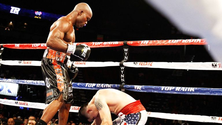 Timothy Bradley put Brandon Rios down twice in the ninth round
