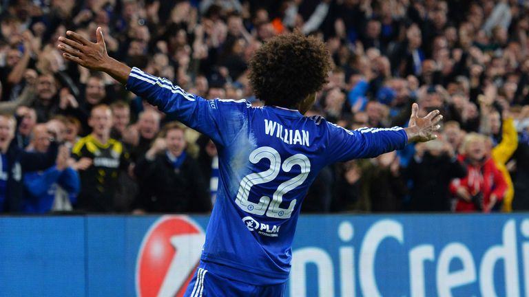 Willian's free-kicks have lit up Chelsea's otherwise disappointing season