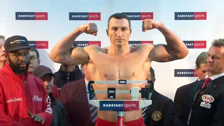 Wladimir Klitschko is heavier than he was for his previous bout