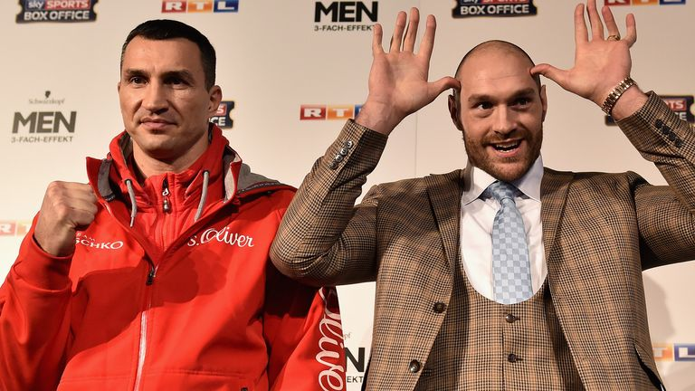 Can Tyson Fury (right) dethrone Wladimir Klitschko?