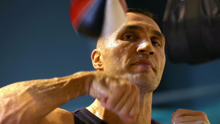 Klitschko withdrew from the original fight planned for October 24