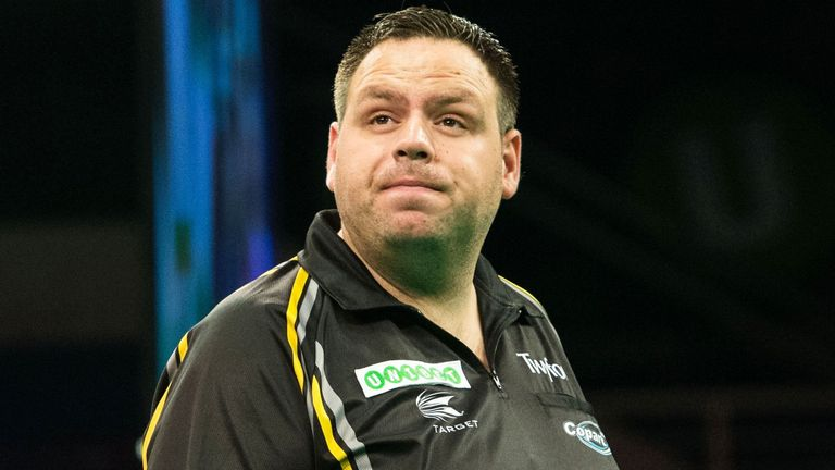 Adrian Lewis was unable to keep pace with van Gerwen