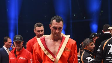 Wladimir Klitschko is disconsolate after defeat to Tyson Fury