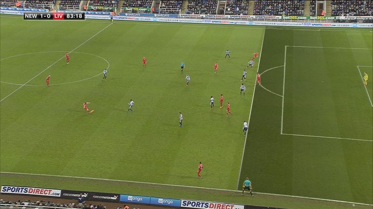 Replays showed Liverpool's Alberto Moreno was comfortably onside