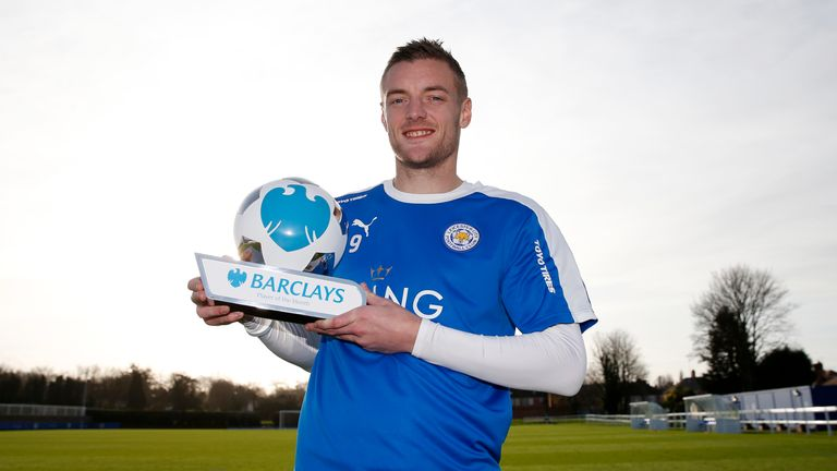 Jamie Vardy broke the Premier League scoring record for consecutive matches, taking it to 11 games, in November.