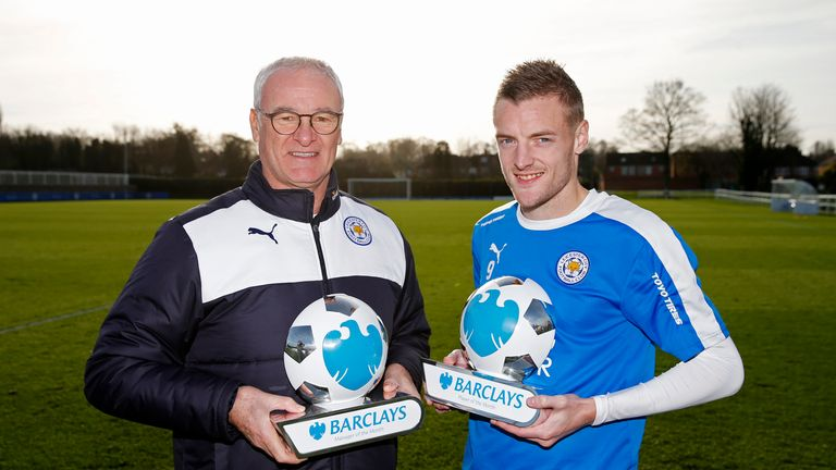 Leicester City manager Claudio Ranieri and  striker Jamie Vardy have helped their team to top of the Premier League.