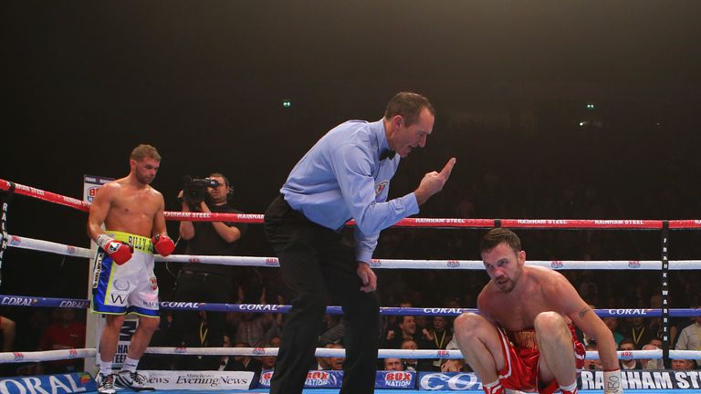 Lee was knocked down twice in the third round by Saunders
