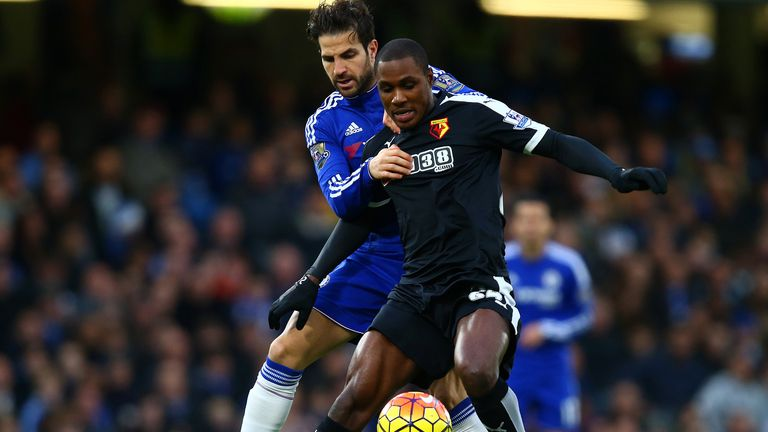 Odion Ighalo holds off Cesc Fabregas in Boxing Day draw at Stamford Bridge