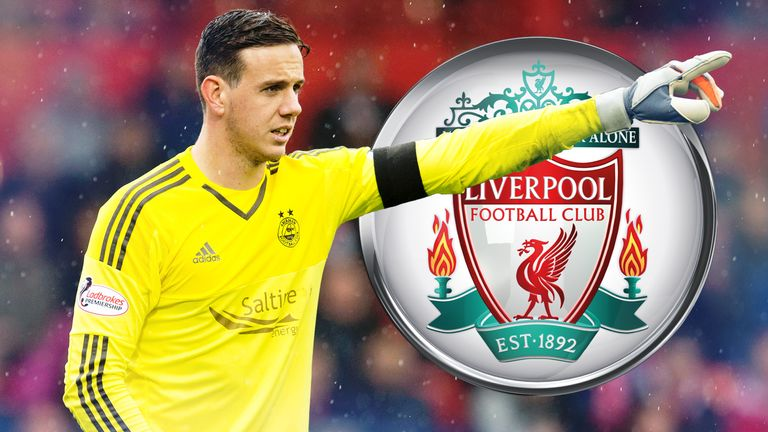 Danny Ward is in form for Aberdeen and hoping for a chance at Liverpool
