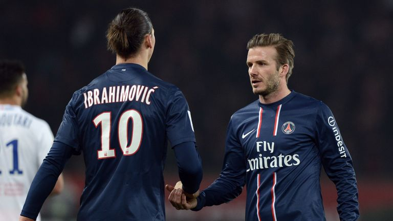 Beckham would like to sign Ibrahimovic for his MLS franchise
