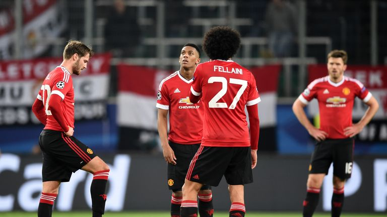 Manchester United have dropped out of the Champions League and into the Europa League