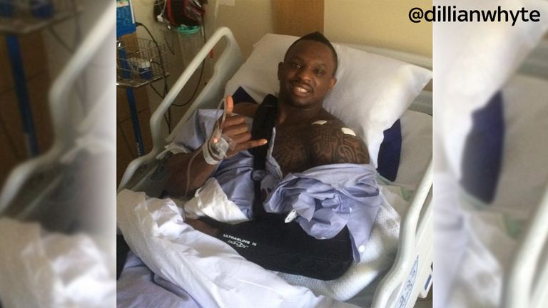Whyte underwent extensive shoulder surgery following the Joshua fight