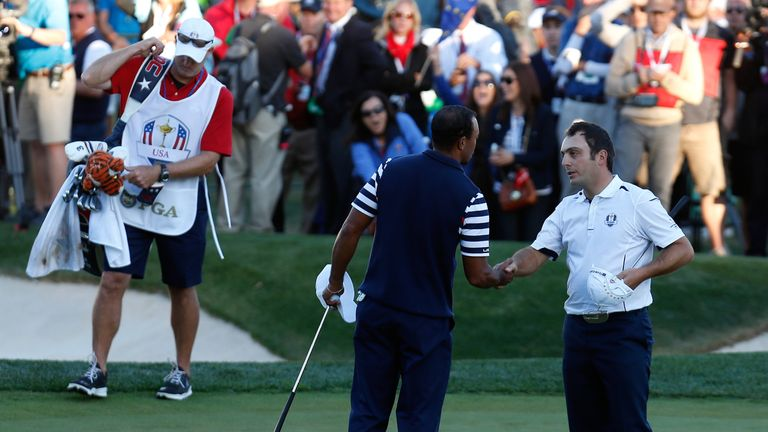 A half point in his match with Tiger Woods gave Europe victory in the 'Miracle of Medinah'