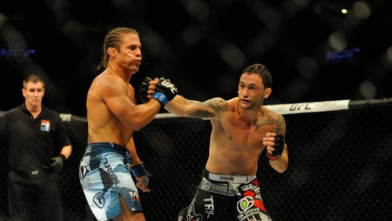 Ex-lightweight champion Frankie Edgar (right) is ranked No 2 at featherweight