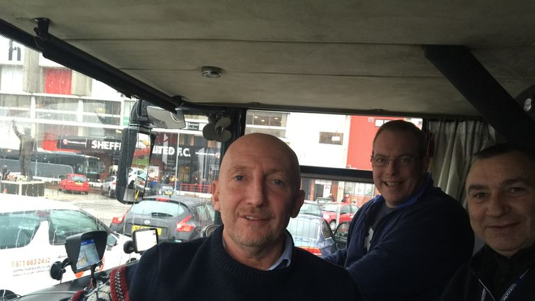 Ollie, Larry and Mick wave goodbye to Sheffield - and hello to Blackburn