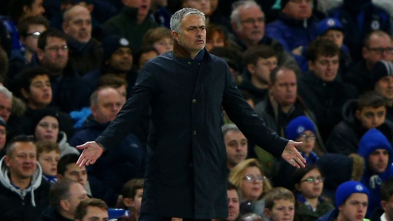 Chelsea manager Jose Mourinho looks perplexed as his side struggled to break down Bournemouth