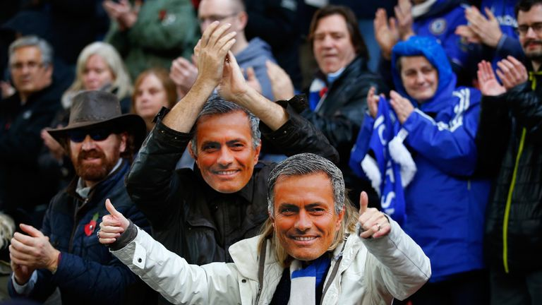 The Chelsea fans were even on the receiving end of some choice Mourinho words