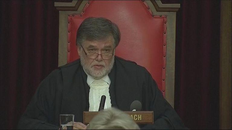 Judge Eric Leach delivers his verdict