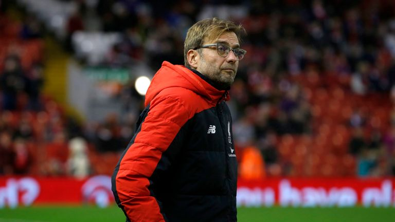 Liverpool manager Jurgen Klopp at Anfield last week where the Reds drew 2-2