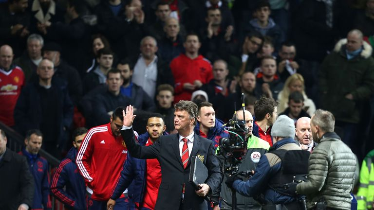 Louis van Gaal received a good reception from Man united fans