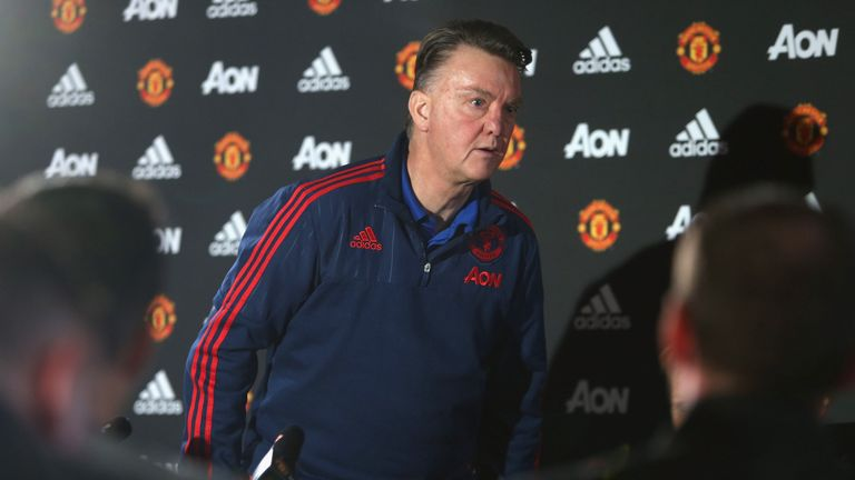 Van Gaal walked out after addressing the media
