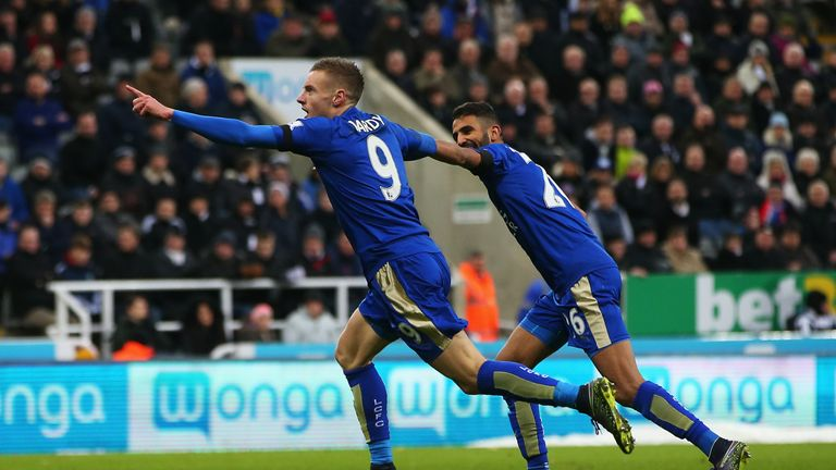 Vardy and Riyad Mahrez have been unstoppable for Leicester City