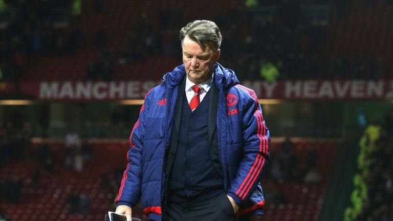 Louis van Gaal is under intense pressure after six games without a win at Manchester United