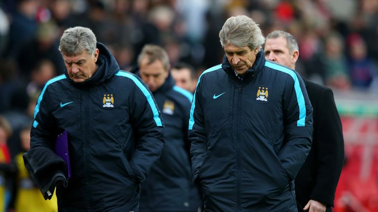 Manuel Pellegrini's Manchester City host managerless Swansea City looking to bounce back from their defeat by Stoke