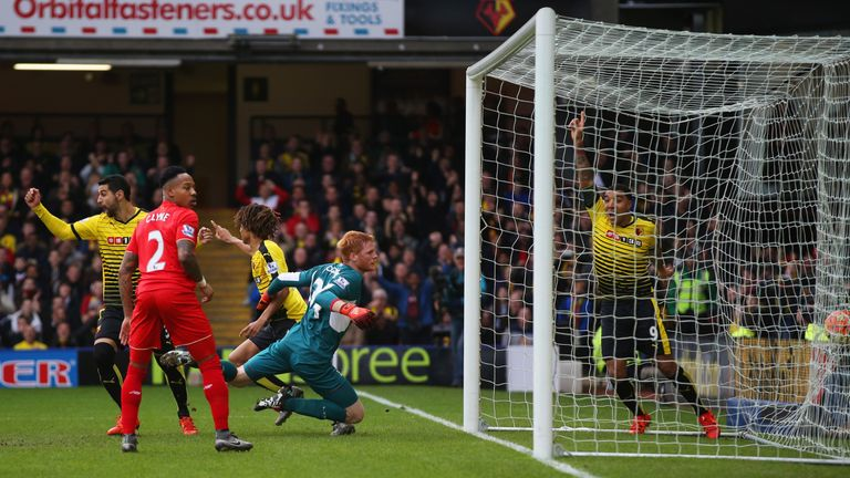 Watford recorded a memorable 3-0 win over Liverpool during Flores' tenure