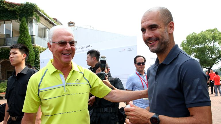 Franz Beckenbauer (left) said earlier this month that every top club will be interested in Guardiola