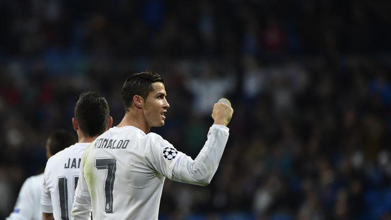 Cristiano Ronaldo celebrates another goal against Malmo