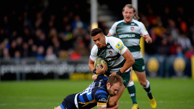Telusa Veainu scored his fifth try of the season against Worcester