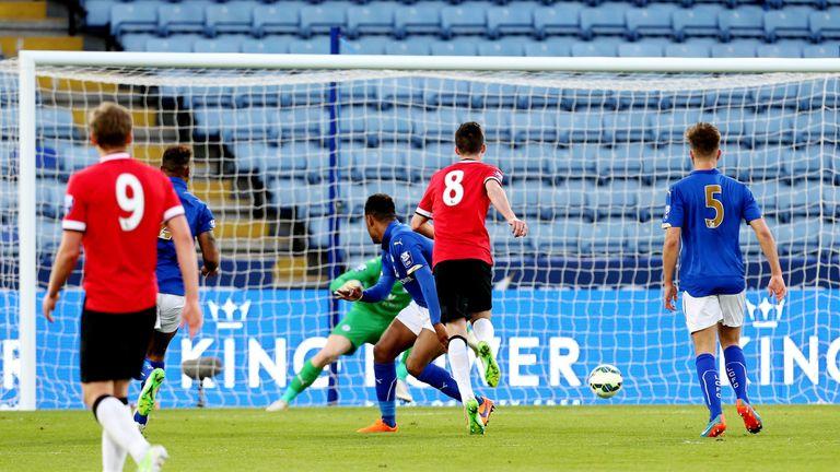 Goss scores in the U21 Premier League match against Leicester City last season