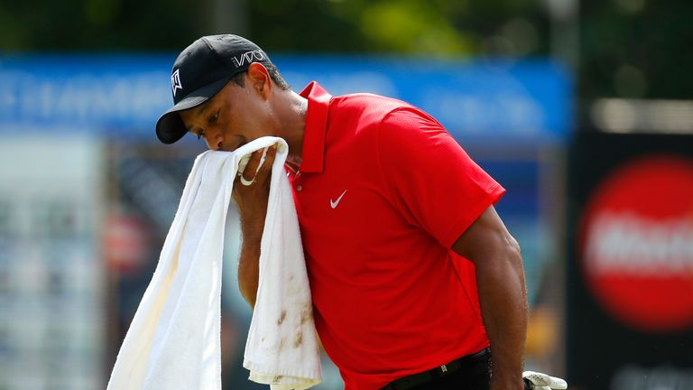 Woods' last appearance came at August's Wyndham Championship