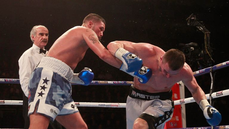 Bellew flurried in the 12th round in an attempt to knock Masternak out