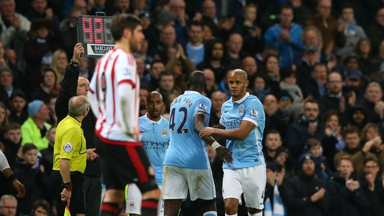 Kompany was sidelined at the start of the year after injuring a calf against Sunderland