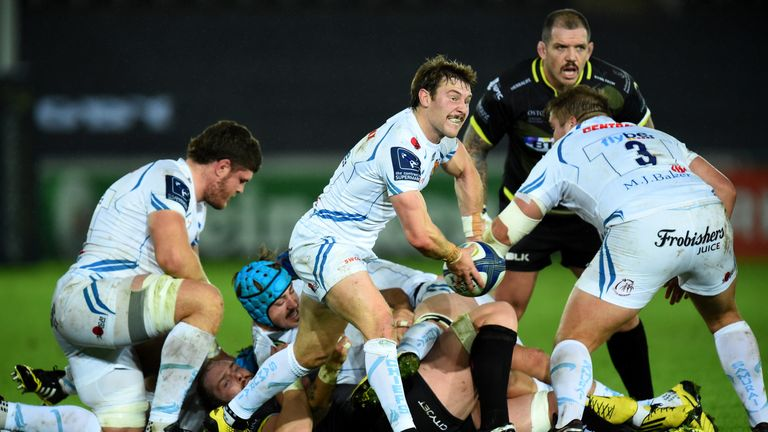 Will Chudley  in action against Ospreys