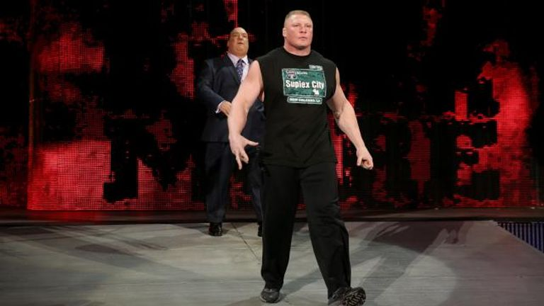 Brock Lesnar was eliminated from the Rumble by The Wyatt Family