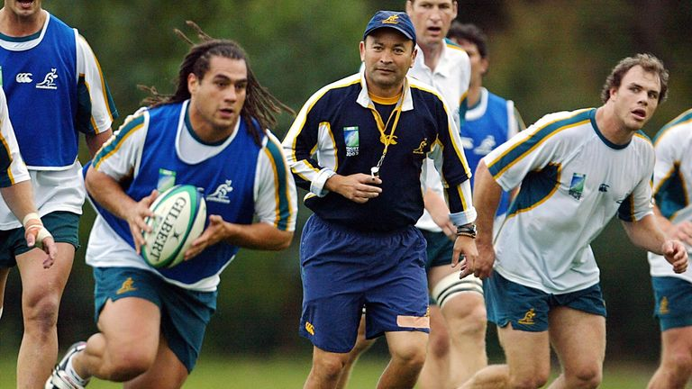 Eddie Jones and George Smith worked together with the Australia national team