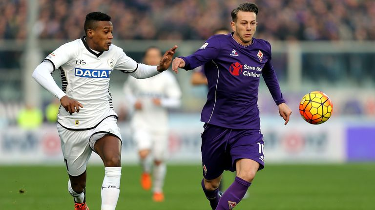 Fiorentina's Federico Bernardeschi (right) is a player to watch, according to Wyscout