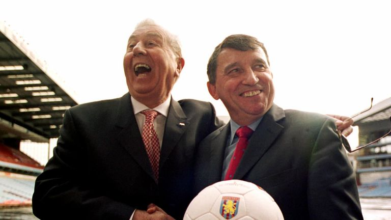 Graham Taylor (R) replaced John Gregory at Villa in 2002, and soon created a liaison officer role
