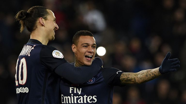 Gregory van der Wiel (right) - like Zlatan Ibrahimovic - has left PSG for pastures new