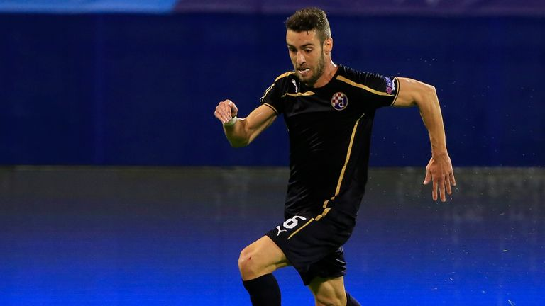 Ivo Pinto in action for Dinamo Zagreb