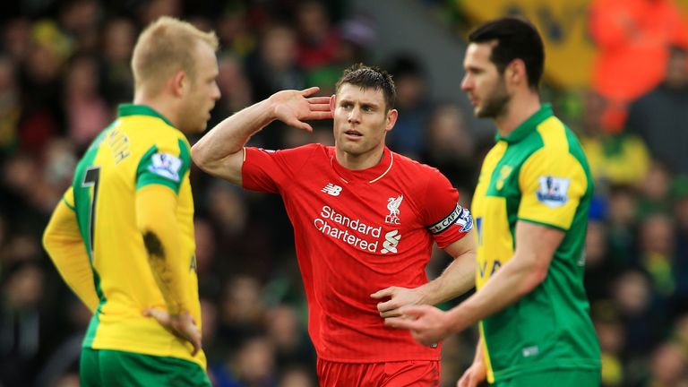 James Milner was one of eight goal-scorers