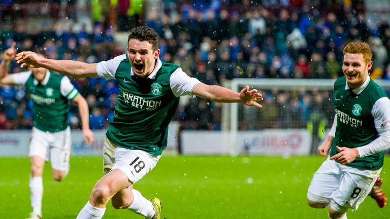 John McGinn wheels away to celebrate his winning goal