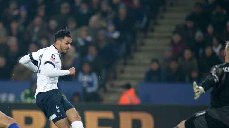 Nacer Chadli slots home Tottenham's second at Leicester