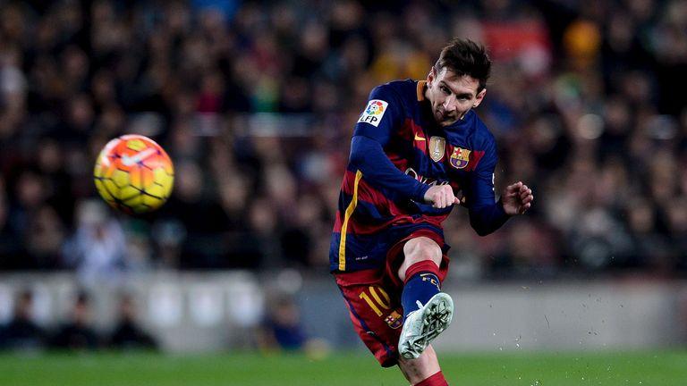 Lionel Messi has scored seven free-kicks since the start of last season
