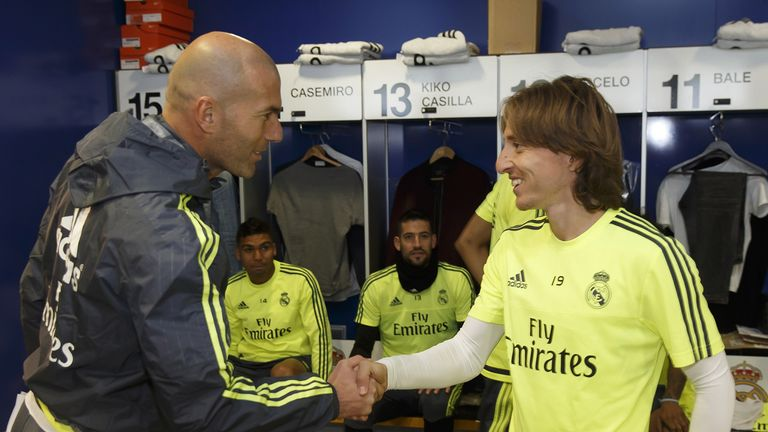 Luka Modric (right) says Zinedine Zidane is the right man for Real Madrid